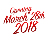Opening March 28th, 2018!
